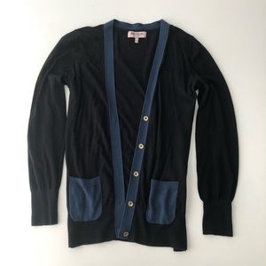 Juicy Couture cardigan black and blue